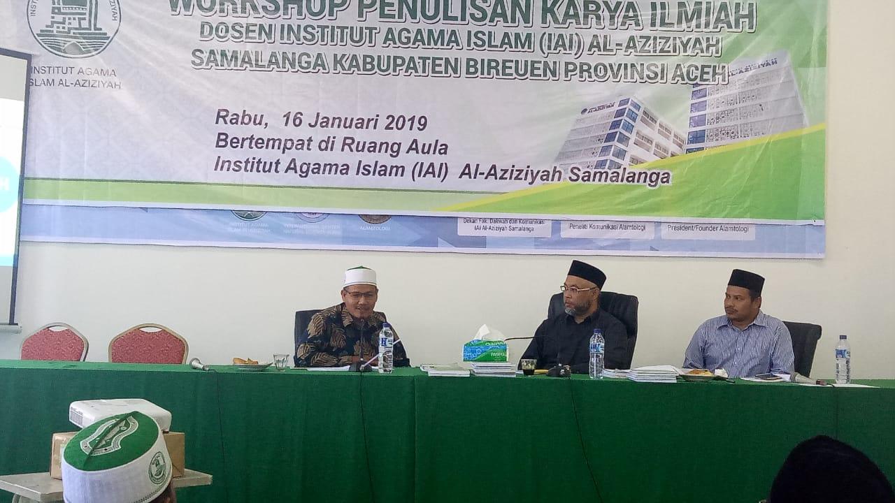 IAI Al-Aziziyah Samalanga Gelar Workshop Penulisan Karya Ilmiah