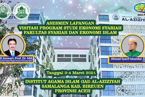 Dua Asesor Ternama BAN PT  Asesmen Lapangan Secara Online terhadap Prodi Ekos IAI Al-Aziziyah Samalanga