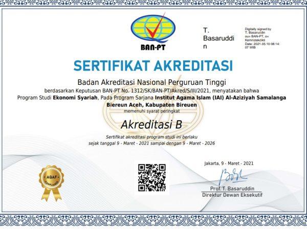 Raih Akreditasi B Prodi Ekos, IAIA Samalanga Bersiap Menuju Universitas Al-Aziziyah