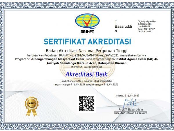 PMI IAIA Samalanga Prodi Perdana di PTKIS Aceh Raih Akreditasi Baik